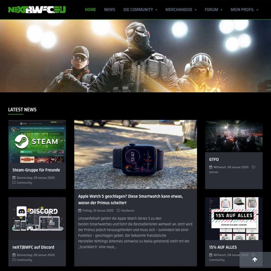Website für neXT|BWFC
